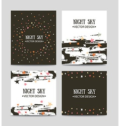 set of bright hand drawn cards templates Greeting vector image