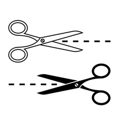 Set of cutting scissors vector