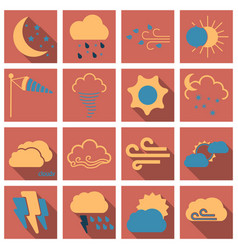 Set of weather beautiful and estetic icons vector