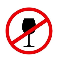 sign stop alcohol with wine glass vector image
