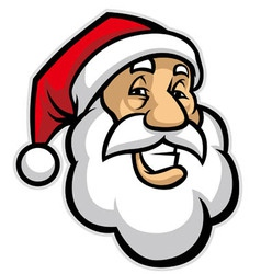 Smilling santa head vector
