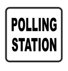 Square polling station sign vector