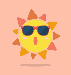 Summer sun wearing sunglasses vector