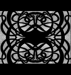surreal abstract creative black and white vector image