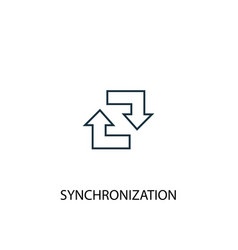 synchronization concept line icon simple element vector image