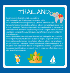 thailand framed touristic banner with text vector image