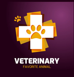 the logotype of the pharmacy for the animals vector image
