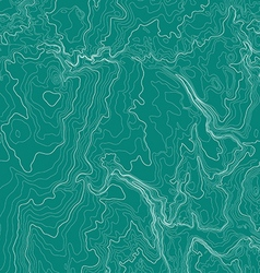 Topographic map background in green colors vector image