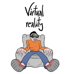 virtual reality experience vector image
