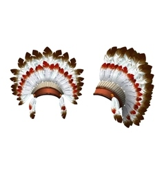 War bonnet Indian vector image