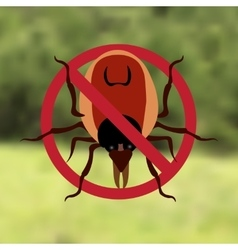 Warning Symbol parasite sign The woods can be vector