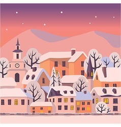 Winter twilight vector