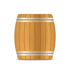 Wooden Barrel vector