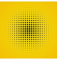 Colored yellow halftone background vector image vector image