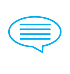 speech bubble icon on white background speech vector image vector image