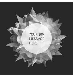 3d abstract background with place for text vector