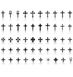 Big collection of crosses vector image