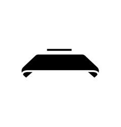 ribbon icon black sign o vector image