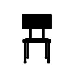 School chair equipment wooden metal vector