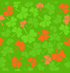Seamless pattern in ireland colors vector
