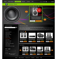 web site is an online store vector image vector image