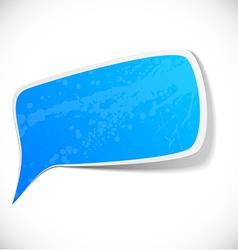 Blue grunge speech label design vector