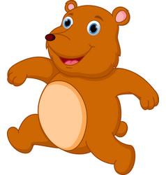 happy brown bear cartoon vector image