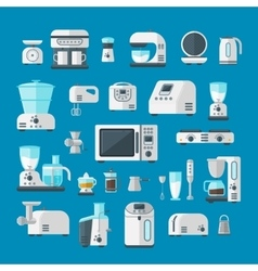 Home electronics appliances elements infographics vector image vector image