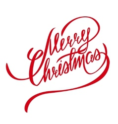 Merry Christmas Lettering - Design Element vector image
