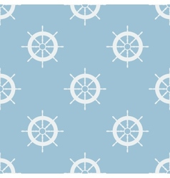 Seamless pattern with helm of ship vector image vector image