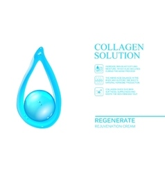 Abstract oil drop vector image
