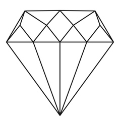 Diamond icon outline style vector image