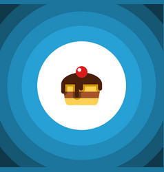 isolated pastry flat icon dessert element vector image