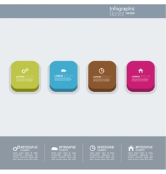Multicolored button with numbers and signs vector image