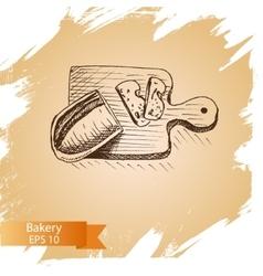 sketch - bakery bread vector image