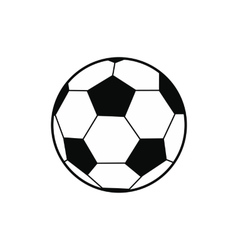 Soccer ball black simple icon vector image vector image