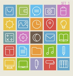 25 Trendy Thin Icons Set 1 vector image
