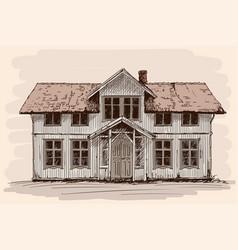 A village house vector