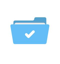 Accept check folder good ready valid verify icon vector