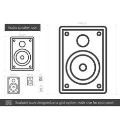 Audio speaker line icon vector