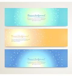Banner abstract background nature vector