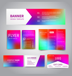 Banner flyers brochure business cards royalty free vector banner flyers brochure business cards vector image colourmoves