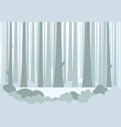 big forest and meadow vector image