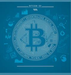 bitcoin 101 vector image