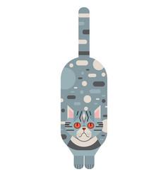 Blue persian cat geometric in flat vector