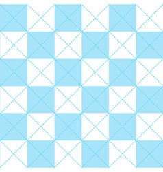 Blue White Chess Board Diamond Background vector image