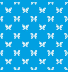 butterfly with big wings pattern seamless vector image