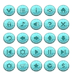 Buttons round blue vector
