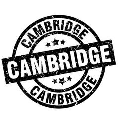 Cambridge black round grunge stamp vector