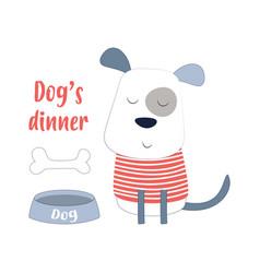 Cartoon dog in scandinavian style vector